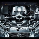 Jaguar XF supersport engine press shot