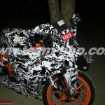 KTM RC390 caught on test India front quarter
