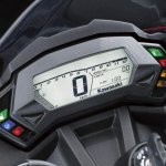 Kawasaki Ninja 250 RR Mono digital instrument cluster press shot