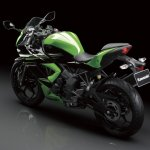Kawasaki Ninja 250 RR Mono front three quarter press shot