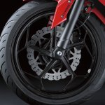 Kawasaki Ninja 250 RR Mono front wheel detail press shot