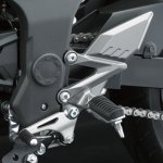 Kawasaki Ninja 250 RR Mono leg rest detail press shot