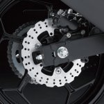 Kawasaki Ninja 250 RR Mono rear disc brake detail press shot