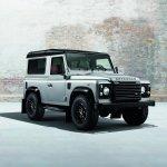 Land Rover Defender Black Pack front quarter