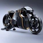 Lotus Motorcyles C-01 carbon front quarter