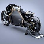 Lotus Motorcyles C-01 carbon rear quarter