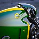Lotus Motorcyles C-01 green closeup