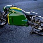 Lotus Motorcyles C-01 green outdoor