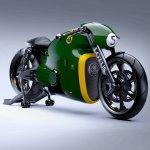 Lotus Motorcyles C-01 green front quarter