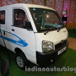 Mahindra Maxximo electric Auto Expo front three quarter