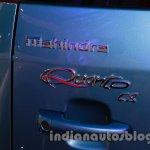 Mahindra Quanto autoSHIFT AMT badge at Auto Expo 2014