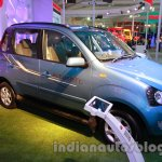 Mahindra Quanto autoSHIFT AMT front three quarters at Auto Expo 2014