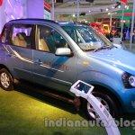 Mahindra Quanto autoSHIFT AMT front three quarters at Auto Expo 2014