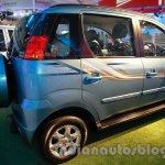 Mahindra Quanto autoSHIFT AMT rear three quarters at Auto Expo 2014