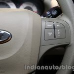 Mahindra Quanto autoSHIFT AMT steering buttons at Auto Expo 2014