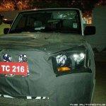 Mahindra Scorpio facelift front-end spyshot