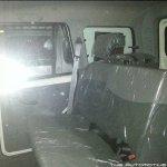 Mahindra Scorpio facelift rear seat spyshot