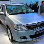 Mahindra Verito Electric front three quarters left at Auto Expo 2014