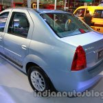 Mahindra Verito Electric rear three quarters left at Auto Expo 2014