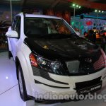 Mahindra XUV500 diesel hybrid front three quarters right at Auto Expo 2014