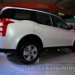 Mahindra XUV500 diesel hybrid rear three quarters right at Auto Expo 2014