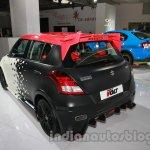 Maruti Swift Volt rear three quarters left at Auto Expo 2014