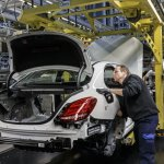 Mercedes-Benz C-Class Bremen plant inauguration checks press shot