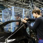 Mercedes-Benz C-Class Bremen plant inauguration gap check press shot