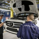 Mercedes-Benz C-Class Bremen plant inauguration grille check press shot