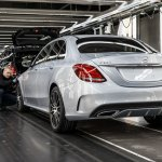 Mercedes-Benz C-Class Bremen plant inauguration rear three quarter press shot