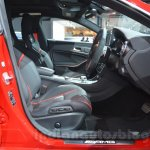 Mercedes CLA 45 AMG front seats at Auto Expo 2014