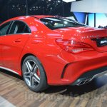 Mercedes CLA 45 AMG rear three quarters at Auto Expo 2014