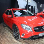 Mercedes GLA front three quarters left at Auto Expo 2014