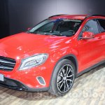 Mercedes GLA front three quarters right at Auto Expo 2014