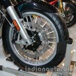 Moto Guzzi California 1400 Touring front disc brake at Auto Expo 2014