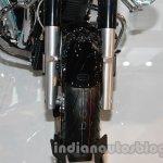 Moto Guzzi California 1400 Touring front wheel at Auto Expo 2014