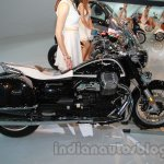 Moto Guzzi California 1400 Touring side view at Auto Expo 2014