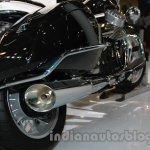Moto Guzzi California 1400 Touring tailpipe at Auto Expo 2014