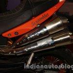 Moto Morini Scrambler Auto Expo 2014 exhausts