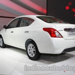 Nissan Sunny facelift rear three quarters at Auto Expo 2014