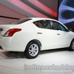 Nissan Sunny facelift rear three quarters left at Auto Expo 2014