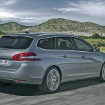 Peugeot 308 SW rear three quarter press shot