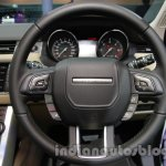 Range Rover Evoque 9-speed steering wheel at Auto Expo 2014