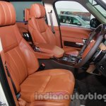 Range Rover L at Auto Expo 2014 front seats
