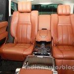 Range Rover L at Auto Expo 2014 rear seats