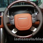 Range Rover L at Auto Expo 2014 steering