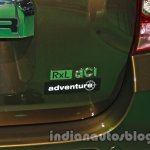 Renault Duster Adventure Edition badge at Auto Expo 2014