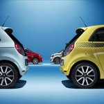 Renault Twingo variants front and rear press shot
