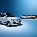 Renault Twingo variants front three quarter press shot