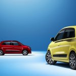Renault Twingo variants side and rear three quarter press shot